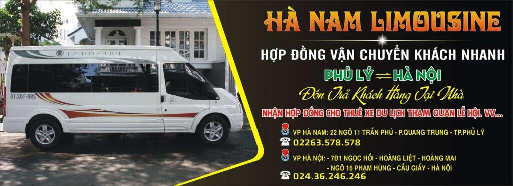 Xe Limousine Hà Nam tuyến Phủ Lý - Hà Nội