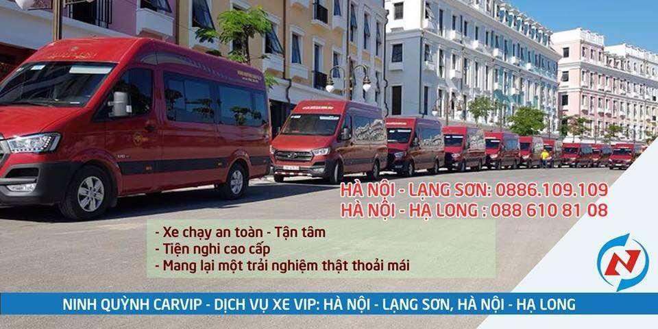 Xe limousine Ninh Quỳnh Car VIP Hà Nội đi Hạ Long