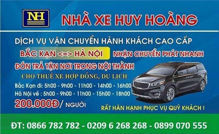 Xe limousine Hà Nội đi Bắc Cạn - Huy Hoàng Limousine